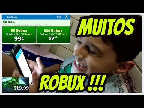 Comprando muitos Robux No Roblox Bruno S Kid Gamer