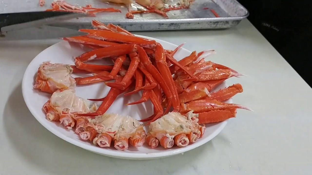 釜山機張市場吃紅蟹 - YouTube