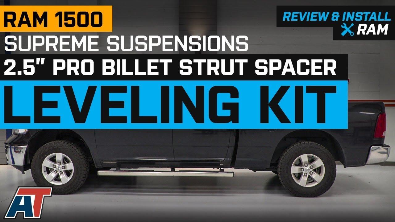 Black Supreme Suspensions Front Leveling Kit for 2004-2019 Nissan Titan 2.5 Front Lift Aircraft Billet Strut Spacers 2WD 4WD