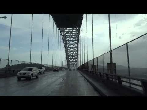 Panama City, Panama - Crossing the Bridge of the Americas HD (2014)