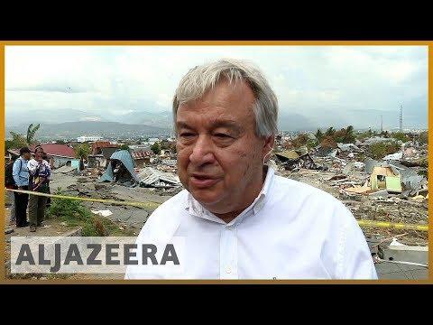🇮🇩UN chief tours disaster-hit Indonesia as World Bank pledges aid l Al Jazeera English