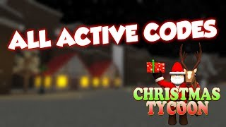 ROBLOX ALL CHRISTMAS TYCOON CODES!