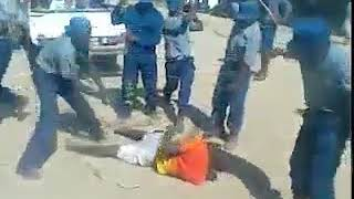 This is the way people in Zimbabwe are treated by Chiwenga & Munangaba