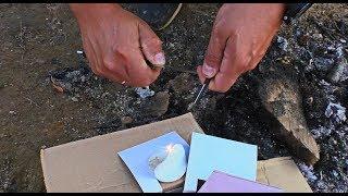 Як розпалити багаття ножем OPINEL №12 EXPLORE, розпакування, ліхтар FENIX CL25R
