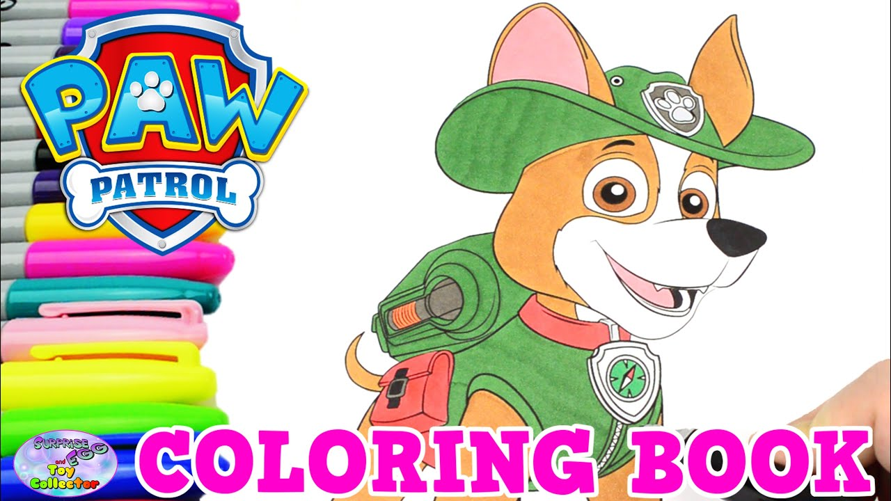 Paw patrol coloring book tracker episode show surprise egg Coloring book ep