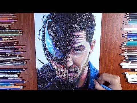 Drawing new Venom ( Tom Hardy ) Venom the Movie 2018 - Speed drawing | Vh Art