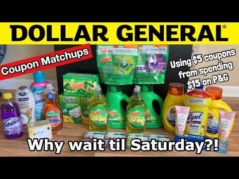 DOLLAR GENERAL HAUL | Coupon Matchups | Using $5 Coupons From Spending $15 On P&G