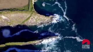 Aerial of Irish Cliffs - Wild Atlantic Way - West Cork