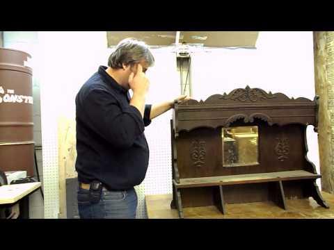 Antique Furniture Restoration- Early 1900`s Pump Organ Hutch