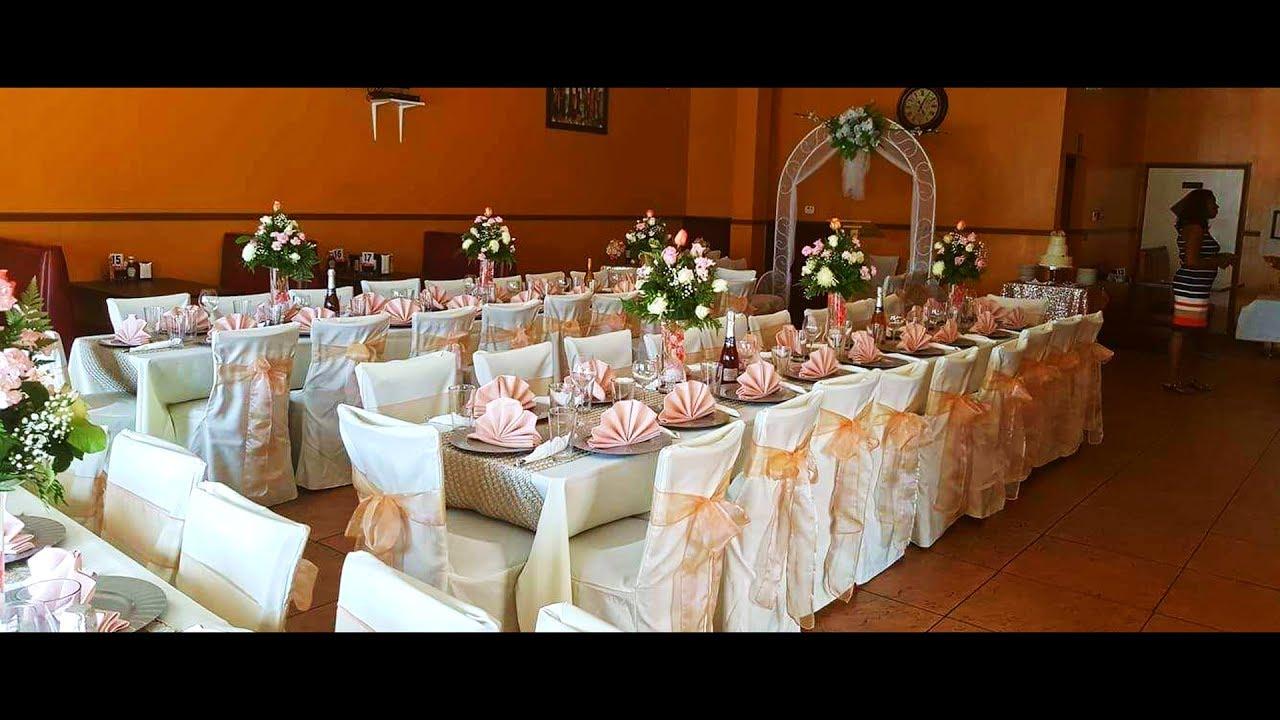 Decoracion de boda en restaurante youtube for Decoracion en bodas 2016