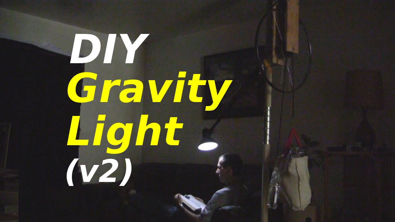 gravity light v2 homemade diy youtube