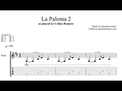 La Paloma TAB - fingerstyle classical guitar tab - PDF - Guitar Pro