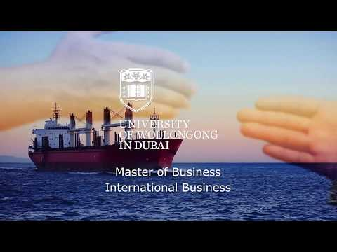 UOWD's Master Of Business International Business