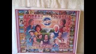 1000 Piece Jigsaw Puzzle First Ladies White Mountain Puzzles Upc 724819247714