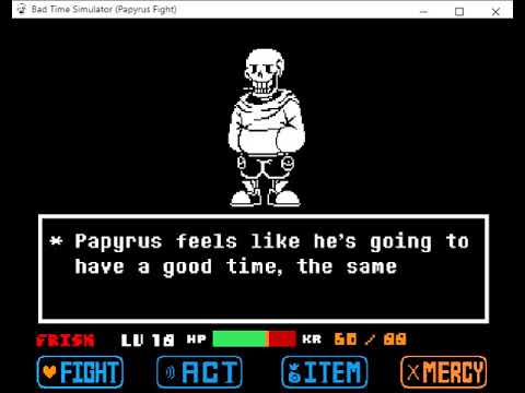 Bad Time Simulator Papyrus Fight Phase 1