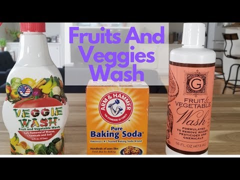 How to wash & remove pesticides from fruits & veggies - Veggie Wash, TJ's Fruits and Vegetable Wash