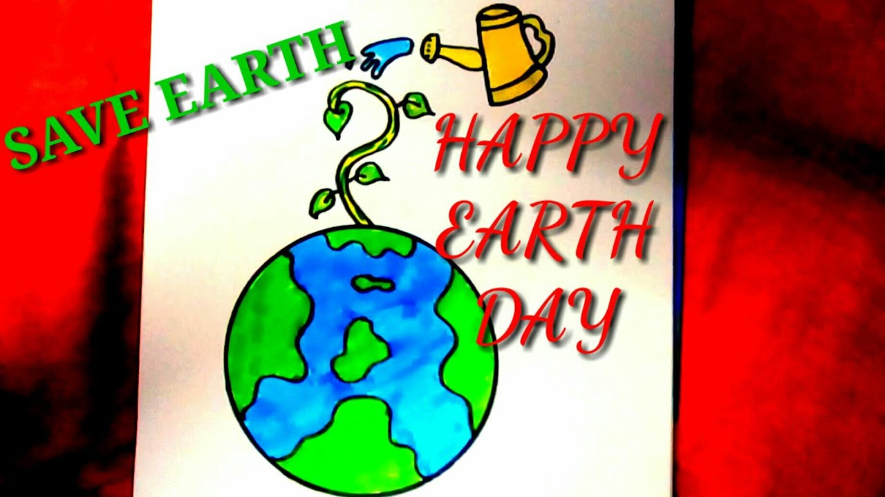 Easy Drawing For Earth Day Save Earth Save Life Draw Step By Step