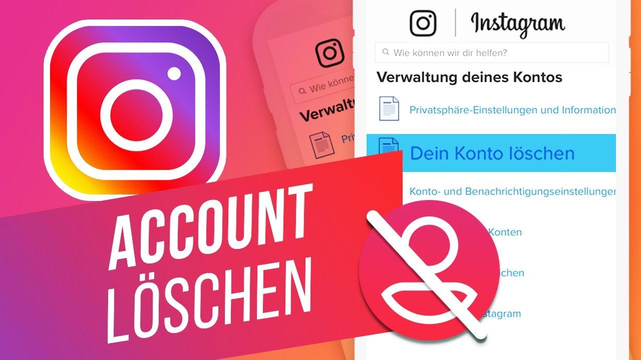 Instagram über die App löschen | Instagram Profil löschen
