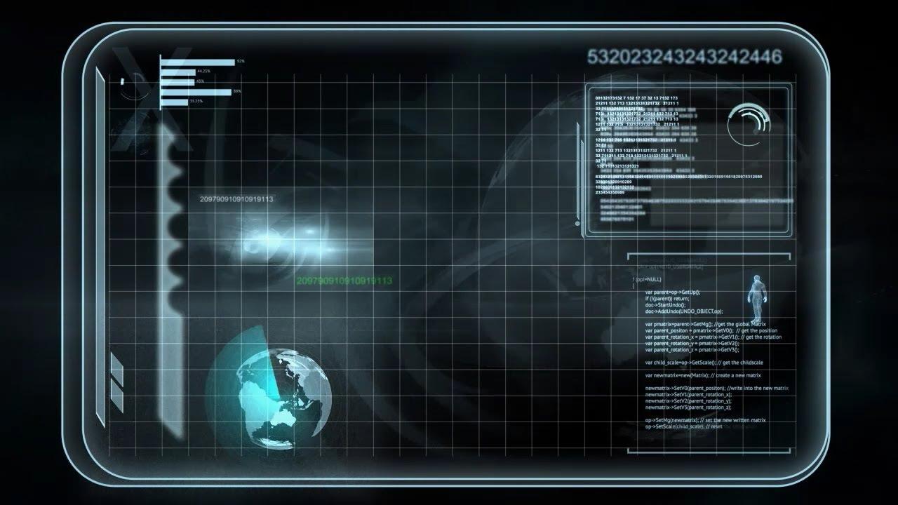 Futuristic interface map