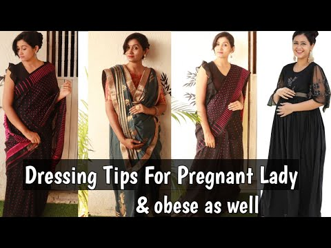 Party wear Saree tips for pregnant lady||jamdani saree ||party wear saree for fat tummy||priyanka