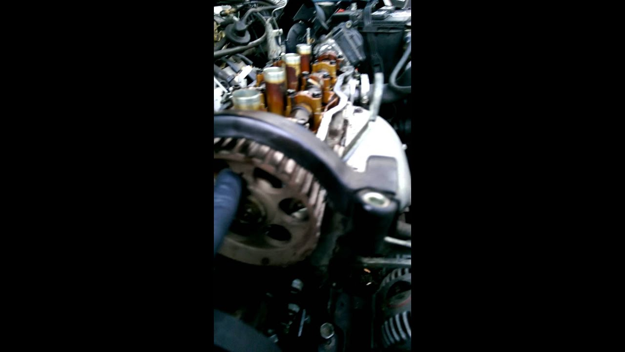 hight resolution of repair of the timing belt 1990 geo prizm 1 6l toyota engine 4afe part 1 of 2