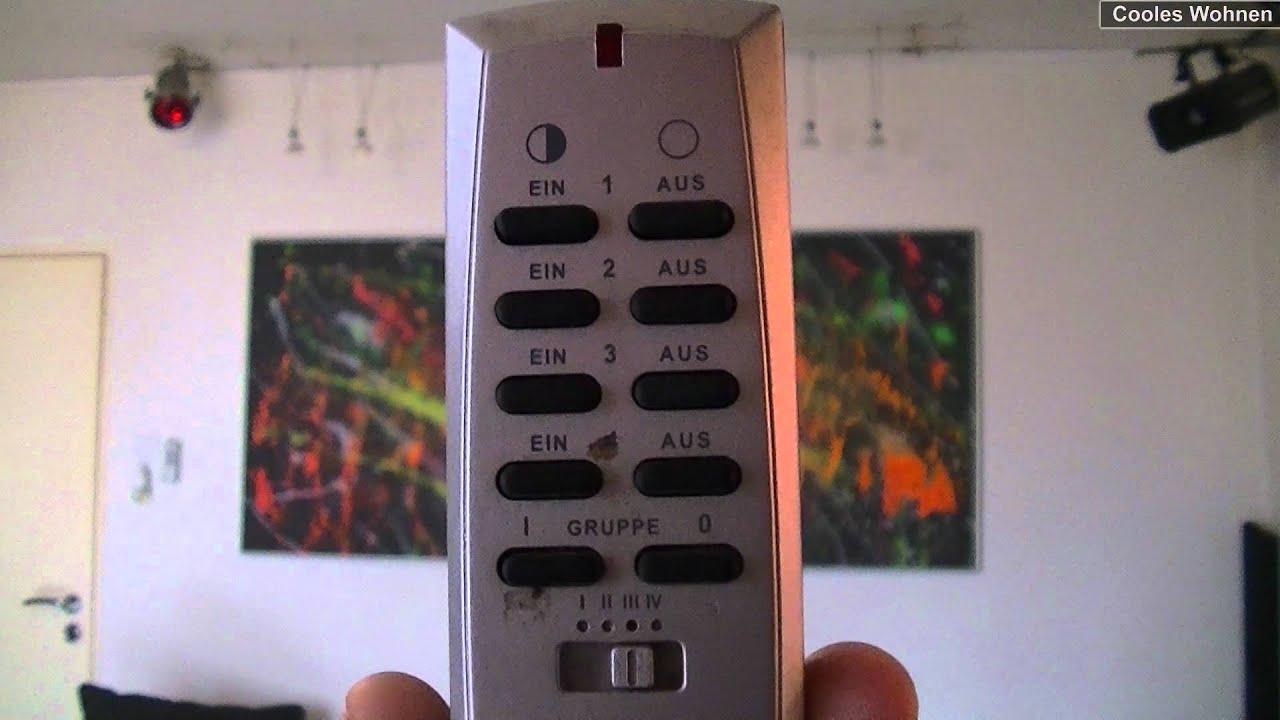 beleuchtung per funk halogen strahler funk dimmer fernbedienung intertechno youtube. Black Bedroom Furniture Sets. Home Design Ideas