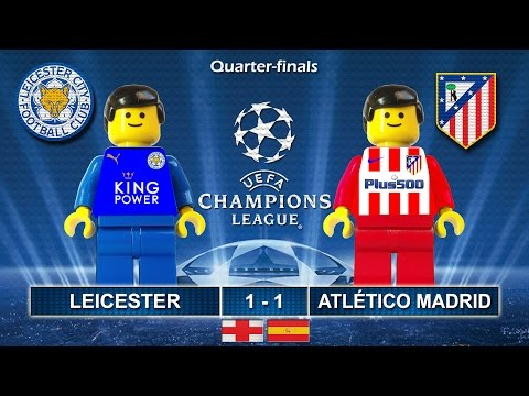 Leicester City vs Atletico Madrid 1-1 • Champions League 2017 (18/04/2017) goal Lego Football