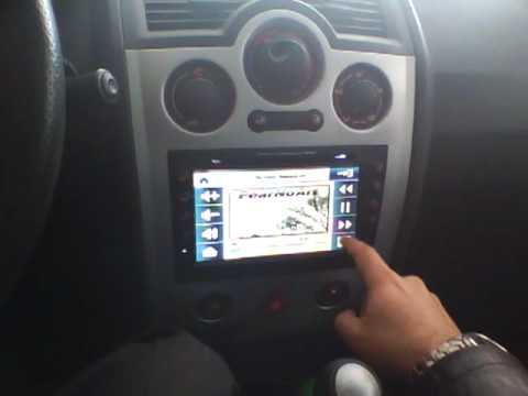 test renault megane cabrio y radio 2 din con gps youtube. Black Bedroom Furniture Sets. Home Design Ideas