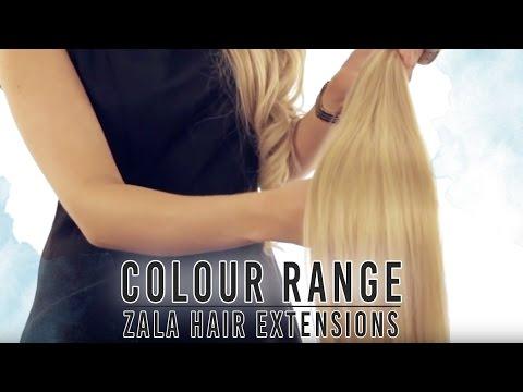 ZALA hair extensions colour range