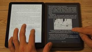 inkBOOK Explore vs PocketBook InkPad 3: zmiana stron