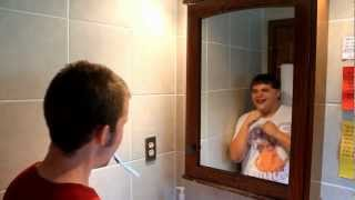 REAL GHOST IN MIRROR REFLECTION! MUST SEE!!
