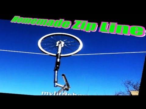 Homemade Zip Line for Kids (School Project)