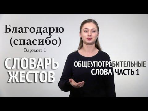 Словарь РЖЯ: общеупотребительные