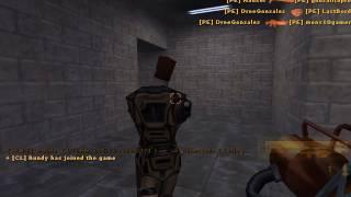 Half Life multijugador, al final llego a la base, pero......