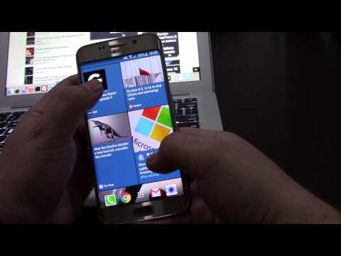 Galaxy S6 edge running HTC Sense 7 and BlinkFeed