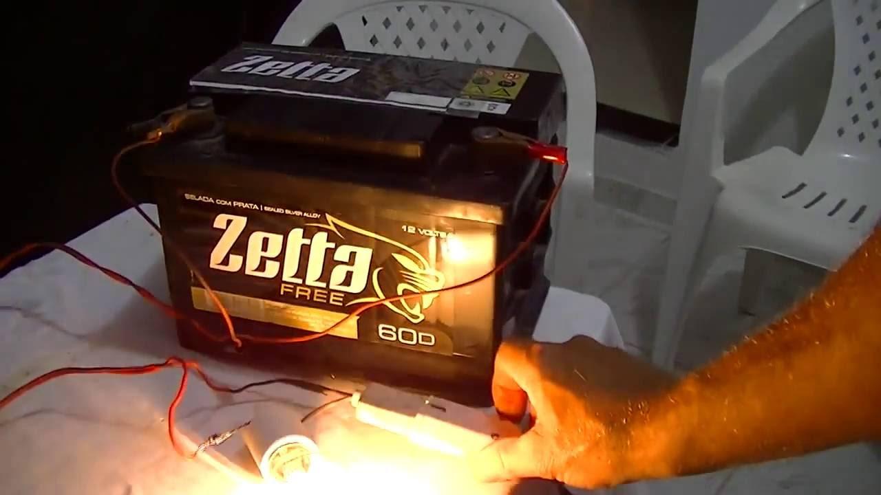 41032a73eab Carregador De Baterias Para Carro E Moto caseiro usando uma lampada  incandescente