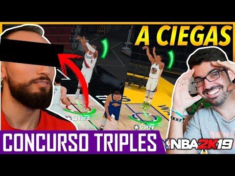 ¡RETO A CIEGAS! CONCURSO TRIPLES *DE LOCOS* NBA 2K19 - AIRCRISS VS RAFAELTGR