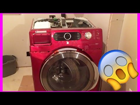 Samsung washer explodes / washing machine explosion (front loader model  wf337aag/xac)