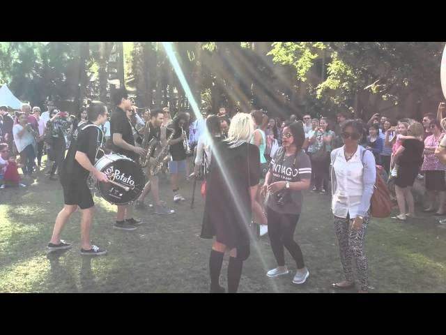 Get lucky live brass band @ Sydney Chocolate Festival