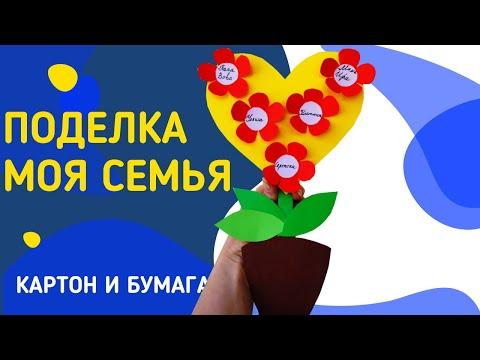 Детская поделка из Бумаги МОЯ СЕМЬЯ / Семейное дерево в виде Цветка / PRO_Делки Ирины Лучаниновой