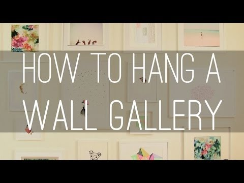 How To Hang Multiple Pictures On Wall how to hang a gallery wall - youtube
