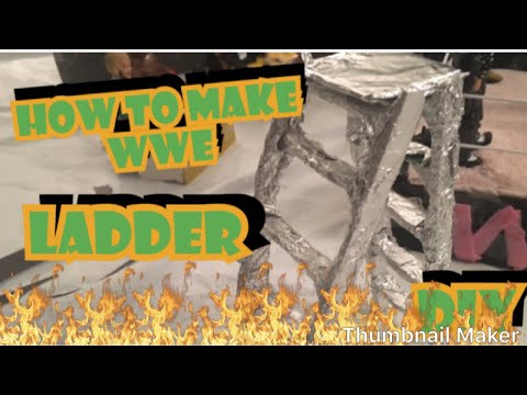 How to make a ladder for wwe action figures-DIY