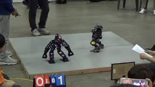 【IRC2018】Humanoid Robot Sports国別対抗戦:ボクシング4(韓国vs台湾1本目)