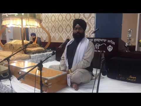 Bhai Harjinder Singh Sabhra in Lynden US Gurdwara
