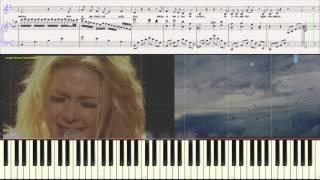 Белое небо - Тина Кароль (пиано - версия) (Ноты и Видеоурок для фортепиано) (piano cover)