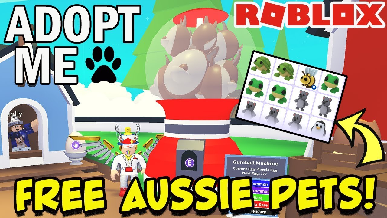 Free Aussie Pets In Adopt Me Roblox Live Pet Giveaway Including Some Legendary Youtube