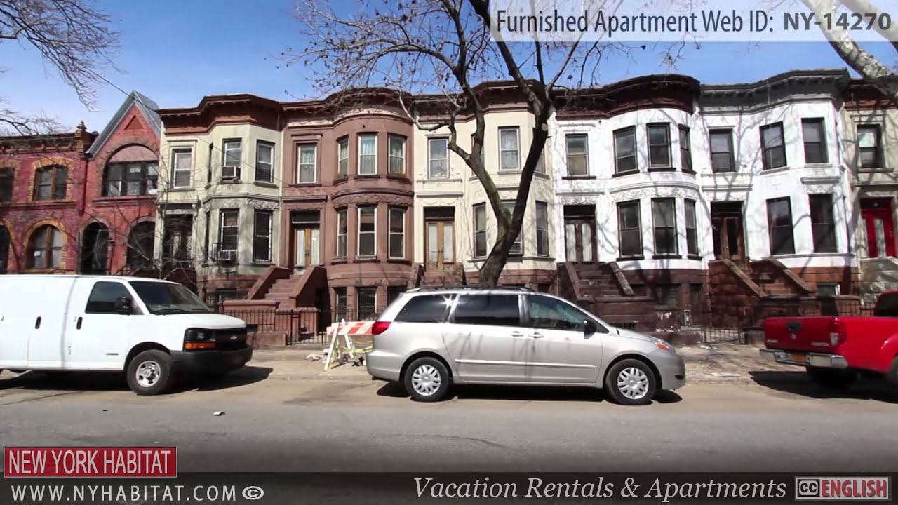video tour of a 1-bedroom furnished apartment in crown heights