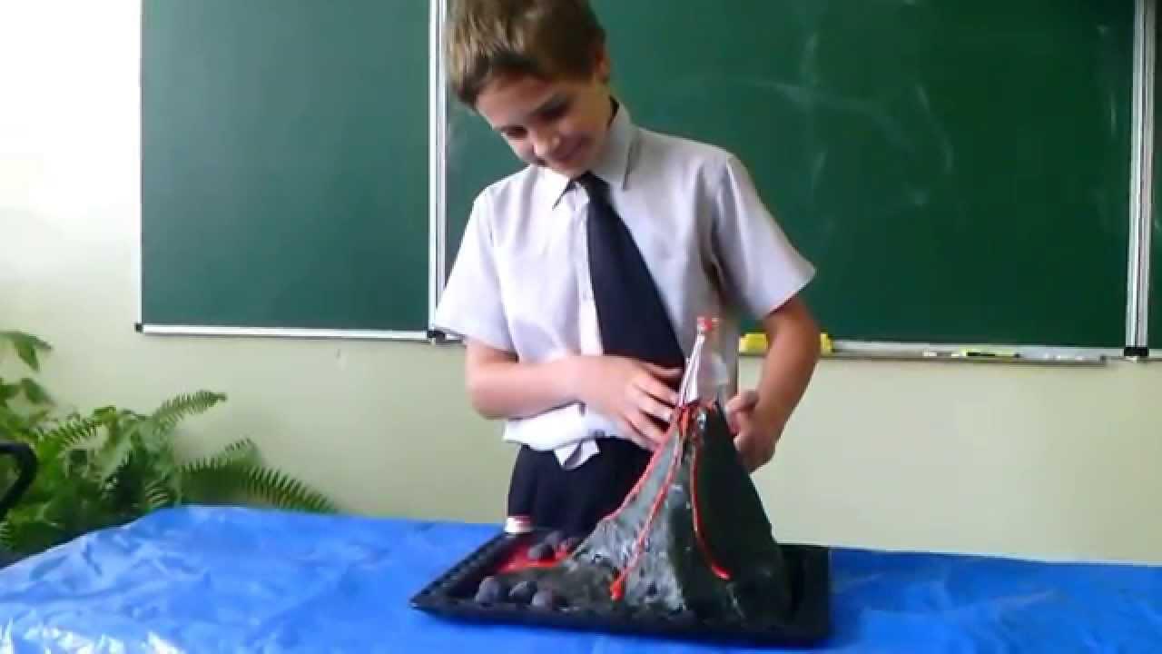Вулкана своими руками из пластилина