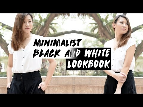 Minimalist Black and White Outfit Ideas ◇ Monochrome Lookbook