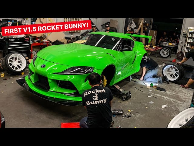 Rocket Bunny V1.5 Wide,Body Install On The DDE Toyota Supra